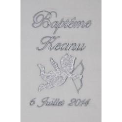 RESERVE écharpe de baptême bébé ange