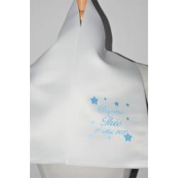 écharpe de baptême bébé étoiles personnalisée brodée  garà§on ou fille